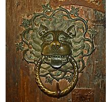 Ancient Door Knocker Photographic Print