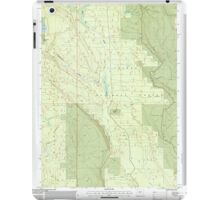 USGS Topo Map Oregon Location Butte 280559 1999 24000 iPad Case/Skin