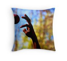 The Release - Journey of a ball Throw Pillow