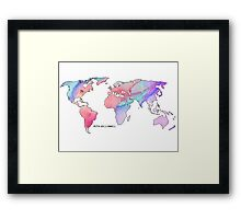 The world is your oyster Watercolour Framed Print