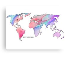 The world is your oyster Watercolour Canvas Print
