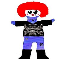 Little Punk Rock / Goth Rag Doll Wearing Mommy's Art 3 Photographic Print