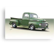 1950 Ford F100 Custom Pickup Canvas Print