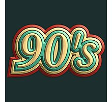 Cool Vintage 90's Photographic Print