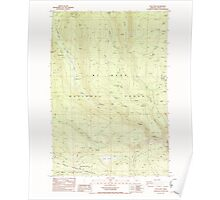 USGS Topo Map Oregon Post Point 281138 1985 24000 Poster