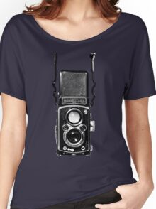 Vintage Medium Format Camera Rolleiflex Twin Lens Reflex (TLR) Women's Relaxed Fit T-Shirt