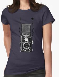 Vintage Medium Format Camera Rolleiflex Twin Lens Reflex (TLR) Womens Fitted T-Shirt