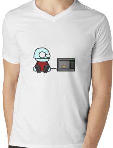 Monty Microwaves Mens V-Neck T-Shirt