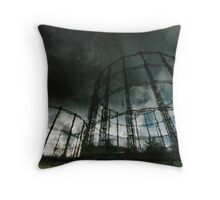 Gas Towers Throw Pillow