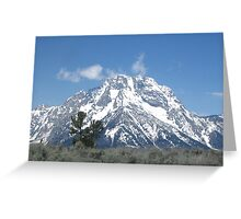 Magestic mountains Greeting Card
