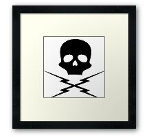 Death Proof decal Framed Print