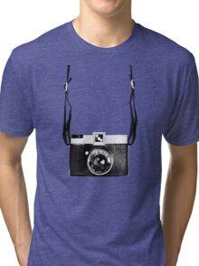 Vintage Camera Diana Plastic Toy Lomo 120 Film Tri-blend T-Shirt
