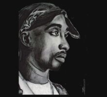 TUPAC T SHIRT by paintingsbycr10