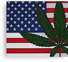 Americana Cannabis Flag Canvas Print