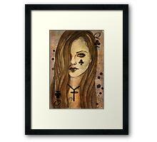 Queen of Clubs Framed Print