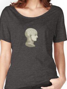 Vintage Brain Phrenology Head  Women's Relaxed Fit T-Shirt