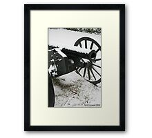cannon in the snow  Framed Print