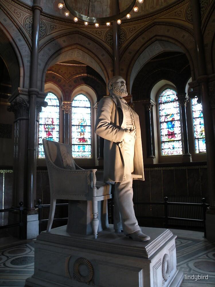 James A Garfield statue  by lindybird
