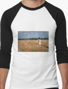 Waiting in the field Men's Baseball ¾ T-Shirt