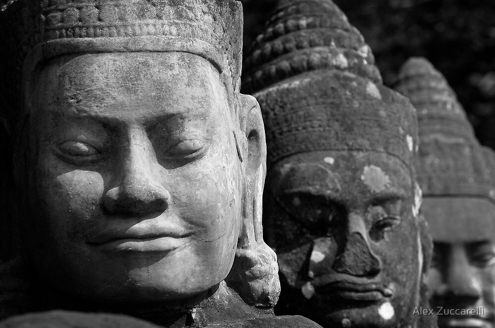 Smiling Giants - Angkor Thom, Cambodia by Alex Zuccarelli