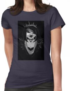 Raven - Goth Pinup Womens Fitted T-Shirt
