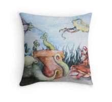 The Protective Octopus  Throw Pillow