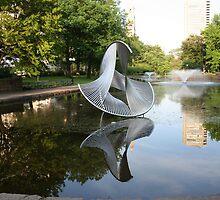 Fountain w/ art Bushnell Park, Hartford Ct. by KDskier