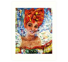 The lady from old Havana 3 Art Print