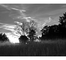 Southern House in the Setting Sun Photographic Print