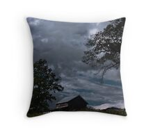 Storm Clouds Over the Farmstead Throw Pillow
