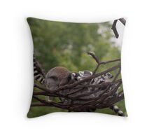 Pile of Ring-tailed Lemurs Throw Pillow