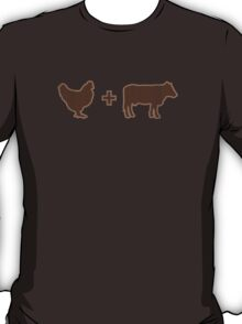 Vintage Brown Chicken Brown Cow T-Shirt