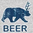 Vintage Beer Bear Deer by colorhouse