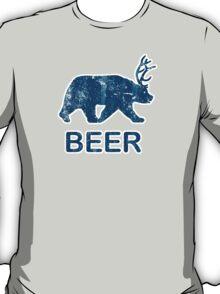 Vintage Beer Bear Deer T-Shirt