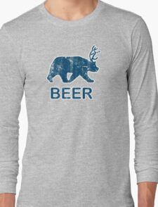 Vintage Beer Bear Deer Long Sleeve T-Shirt