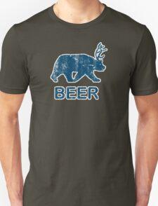 Vintage Beer Bear Deer Unisex T-Shirt