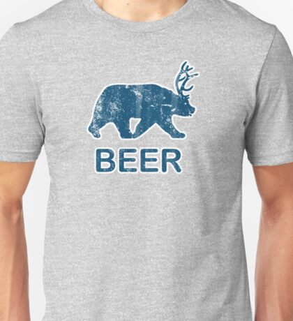 Vintage Beer Bear Deer Unisex T-Shirt