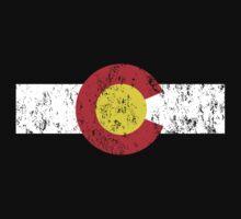 Vintage Colorado Flag One Piece - Short Sleeve