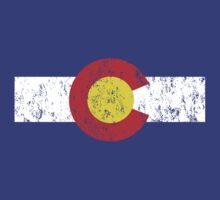 Vintage Colorado Flag by colorhouse
