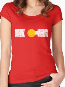 Vintage Colorado Flag Women's Fitted Scoop T-Shirt