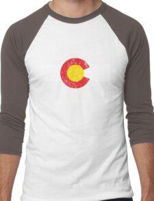 Vintage Colorado Flag Men's Baseball ¾ T-Shirt