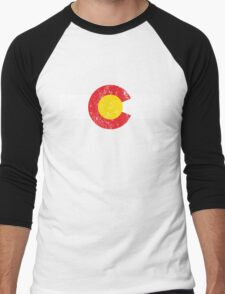 Vintage Colorado Flag Men's Baseball ¾ T-Shirt