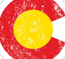 Vintage Colorado Flag Sticker
