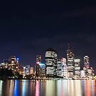 Brisbane Skyline, from Kangaroo Point Walkway. QLD by lu138