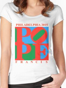 Love Park Pope Women's Fitted Scoop T-Shirt