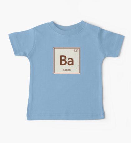 Vintage Bacon Periodic Table Element Baby Tee