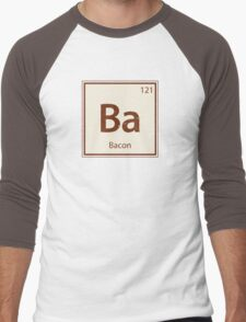 Vintage Bacon Periodic Table Element Men's Baseball ¾ T-Shirt