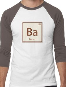 Vintage Bacon Periodic Table Element Men's Baseball ¾ T-Shirt