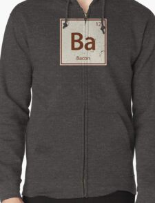 Vintage Bacon Periodic Table Element Zipped Hoodie