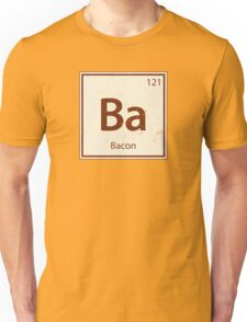Vintage Bacon Periodic Table Element Unisex T-Shirt